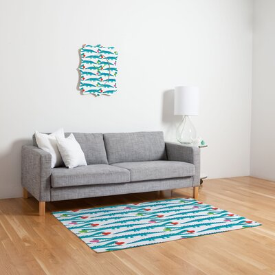 DENY Designs Andi Bird Alligator Love Kids Rug
