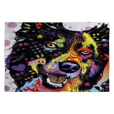 DENY Designs Dean Russo Border Collie Novelty Rug