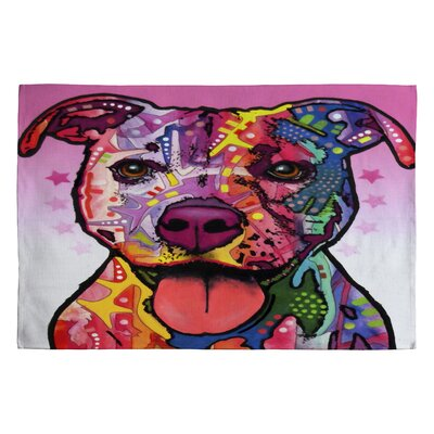DENY Designs Dean Russo Cherish The Pitbull Novelty Rug