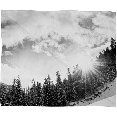 DENY Designs Bird Wanna Whistle White Mountain Polyester Fleece Throw Blanket