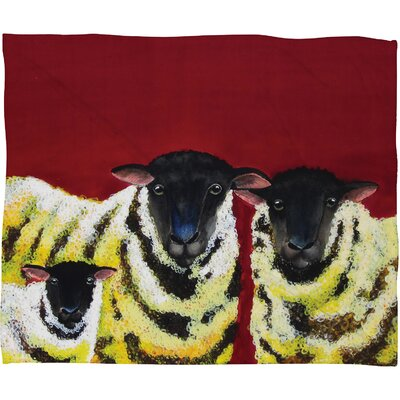 DENY Designs Clara Nilles Lemon Spongecake Sheep Polyester Fleece Throw Blanket