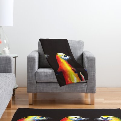 DENY Designs Clara Nilles Flaming Otters Polyester Fleece Throw Blanket