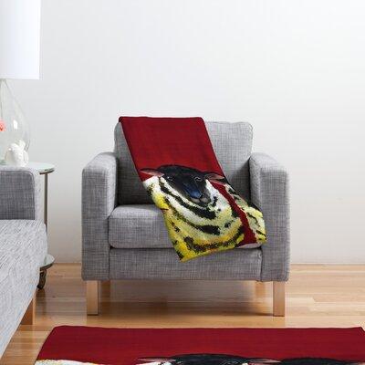 DENY Designs Clara Nilles Lemon Spongecake Sheep Polyester Fleece Throw Blanket