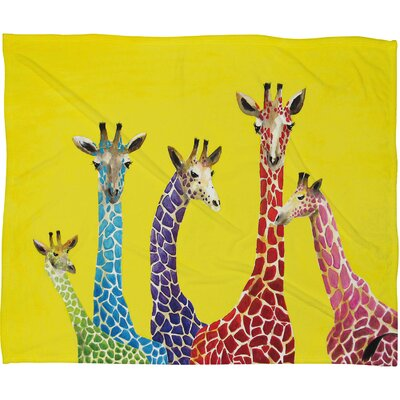 DENY Designs Clara Nilles Jellybean Giraffes Polyester Fleece Throw Blanket