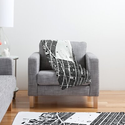 DENY Designs CityFabric Inc NYC Midtown Polyester Fleece Throw Blanket