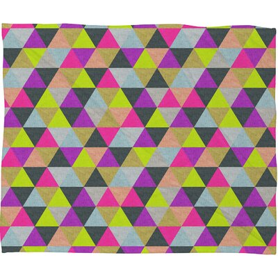 DENY Designs Bianca Green Ocean of Pyramid Polyester Fleece Throw Blanket