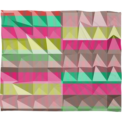 DENY Designs Jacqueline Maldonado Pyramid Scheme Polyester Fleece Throw Blanket
