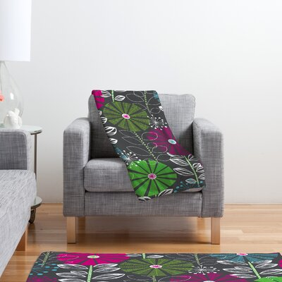 DENY Designs Khristian A Howell Cape Town Blooms Polyester Fleece Throw Blanket