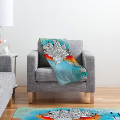 DENY Designs Iveta Abolina Coral Polyester Fleece Throw Blanket