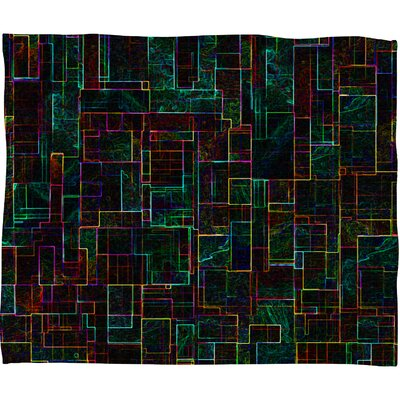 DENY Designs Jacqueline Maldonado Matrix Polyester Fleece Throw Blanket