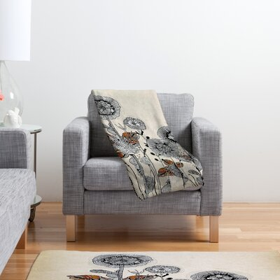 DENY Designs Iveta Abolina Floral 3 Polyester Fleece Throw Blanket