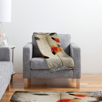 DENY Designs Iveta Abolina Feather Dance Polyester Fleece Throw Blanket