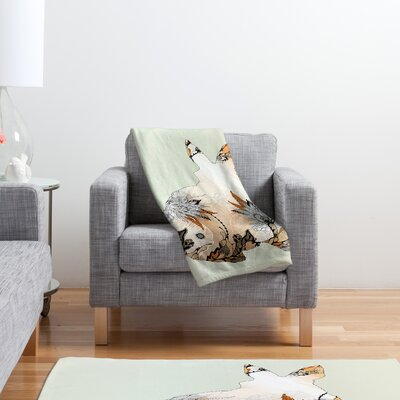 DENY Designs Iveta Abolina Little Rabbit Polyester Fleece Throw Blanket
