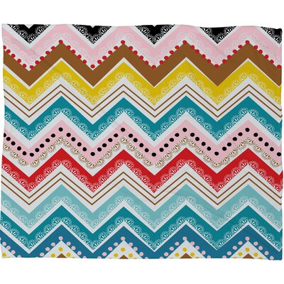 DENY Designs Khristian A Howell Nolita Chevrons Polyester Fleece Throw Blanket