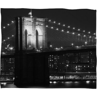 DENY Designs Leonidas Oxby Brooklyn Bridge 125 Polyester Fleece Throw Blanket