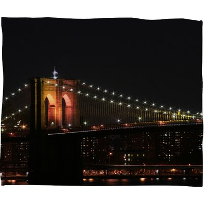DENY Designs Leonidas Oxby Brooklyn Bridge 2 Polyester Fleece Throw Blanket