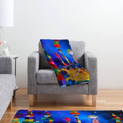 DENY Designs Robin Faye Gates Out of Bounds Polyester Fleece Throw Blanket