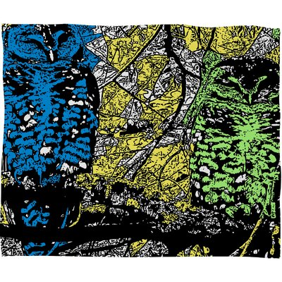 DENY Designs Romi Vega Bright Owl Polyester Fleece Throw Blanket