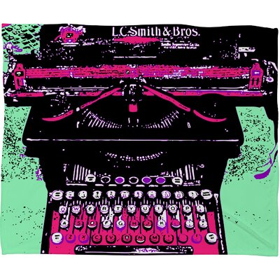 DENY Designs Romi Vega Antique Typewriter Polyester Fleece Throw Blanket