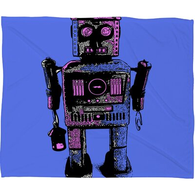 DENY Designs Romi Vega Lantern Robot Polyester Fleece Throw Blanket