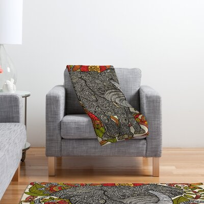 DENY Designs Valentina Ramos Bo The Elephant Polyester Fleece Throw Blanket