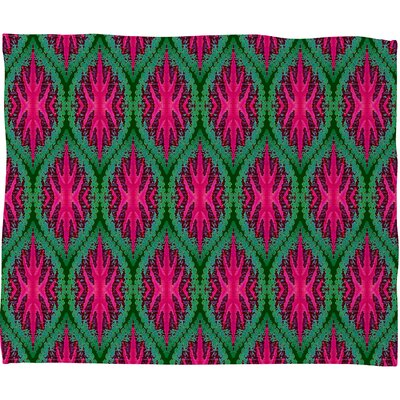 DENY Designs Wagner Campelo Ikat Leaves Polyester Fleece Throw Blanket
