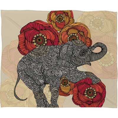 DENY Designs Valentina Ramos Rosebud Polyester Fleece Throw Blanket