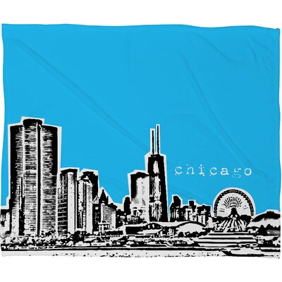 DENY Designs Bird Ave Chicago Polyester Fleece Throw Blanket