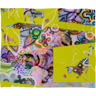 DENY Designs Randi Antonsen Cats 4 Polyester Fleece Throw Blanket