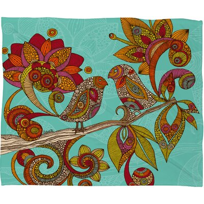 DENY Designs Valentina Ramos Hello Birds Polyester Fleece Throw Blanket
