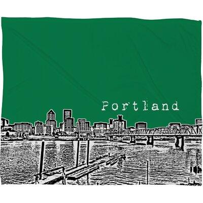DENY Designs Bird Ave Portland Polyester Fleece Throw Blanket