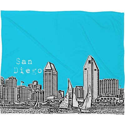 Bird Ave San Diego Polyester Fleece Throw Blanket