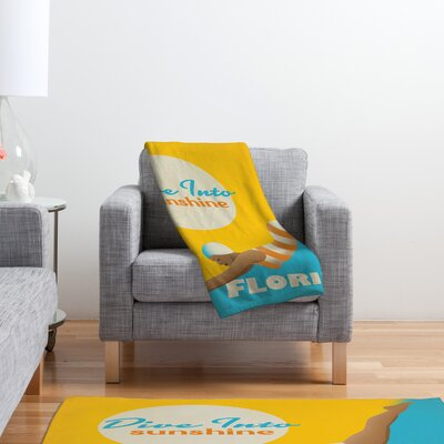 DENY Designs Anderson Design Group Dive Florida Polyester Fleece Throw Blanket