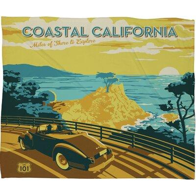 DENY Designs Anderson Design Group Coastal California Polyester Fleece  Throw Blanket