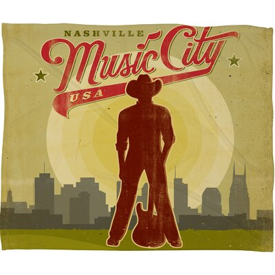 DENY Designs Anderson Design Group Music City Polyester Fleece Throw Blanket