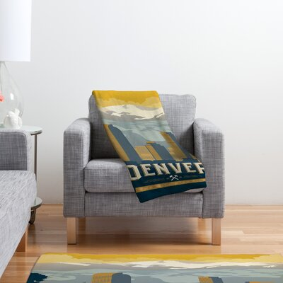 DENY Designs Anderson Design Group Denver 1 Polyester Fleece  Throw Blanket