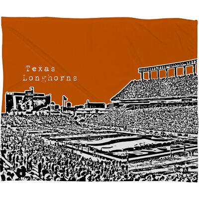 DENY Designs Bird Ave Texas Longhorns Polyester Fleece Throw Blanket