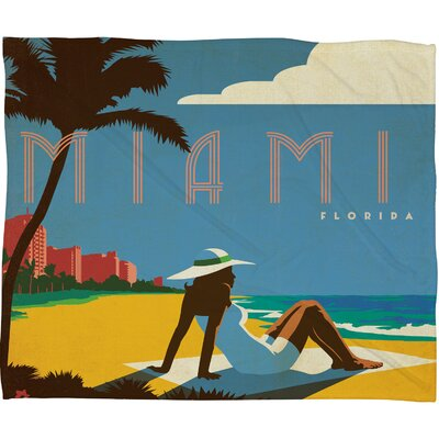 DENY Designs Anderson Design Group Miami Polyester Fleece  Throw Blanket