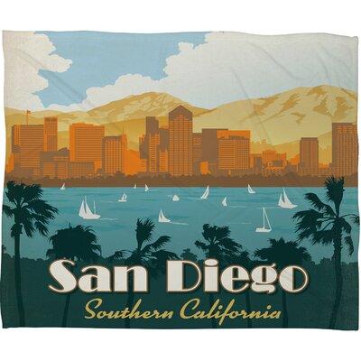 DENY Designs Anderson Design Group San Diego Polyester Fleece Throw Blanket