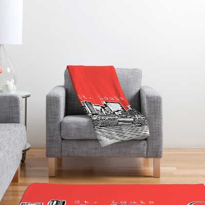 DENY Designs Bird Ave St Louis Polyester Fleece Throw Blanket