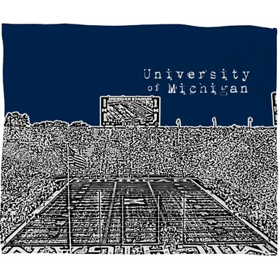 DENY Designs Bird Ave University of Michigan Polyester Fleece Throw Blanket