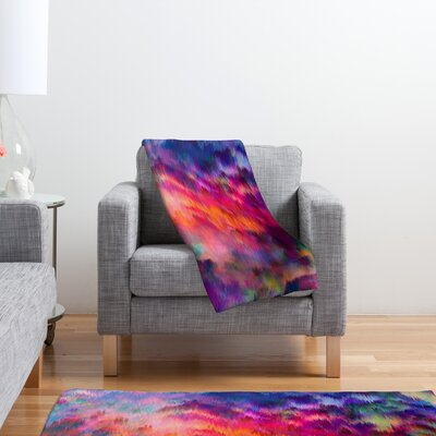DENY Designs Amy Sia Sunset Storm Polyester Fleece Throw Blanket