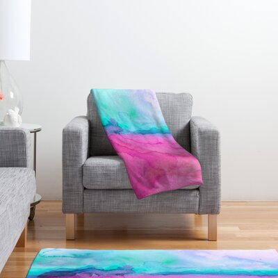 DENY Designs Jacqueline Maldonado Tidal Color Polyester Fleece Throw Blanket