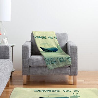 DENY Designs Belle13 Always Take Your Dreams With You Polyester Fleece Throw Blanket