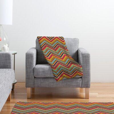 DENY Designs Amy Sia Tribal Chevron Polyester Fleece Throw Blanket