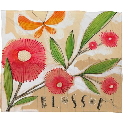 DENY Designs Cori Dantini Blossom 1 Polyester Fleece Throw Blanket