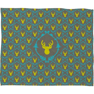 DENY Designs Bianca Green Oh Deer 3 Polyester Fleece Throw Blanket