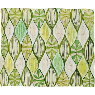 Cori Dantini Green Polyester Fleece Throw Blanket