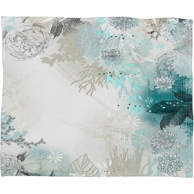 Iveta Abolina Seafoam Polyester Fleece Throw Blanket