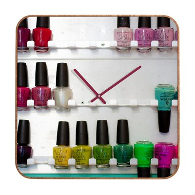 DENY Designs Bird Wanna Whistle Nail Polish Clock